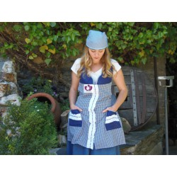 BLUE SET APRON AND HEADSCARF YEMAYA