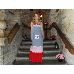 VICHY DRESS IN BLUE AND RED