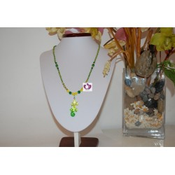 ORULA CRYSTAL AND SEMIPRECIOUS STONES NECKLACE