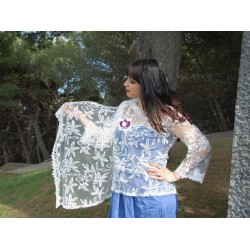 WHITE LACE CARDIGANS