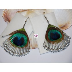 FEATHER EARRINGS OBBATALA