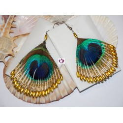 FEATHER EARRINGS OSHUN