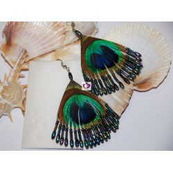 FEATHER EARRINGS YEMAYA
