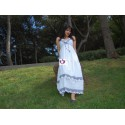 WHITE AND BLUE DRESS IBICENCO STYLE