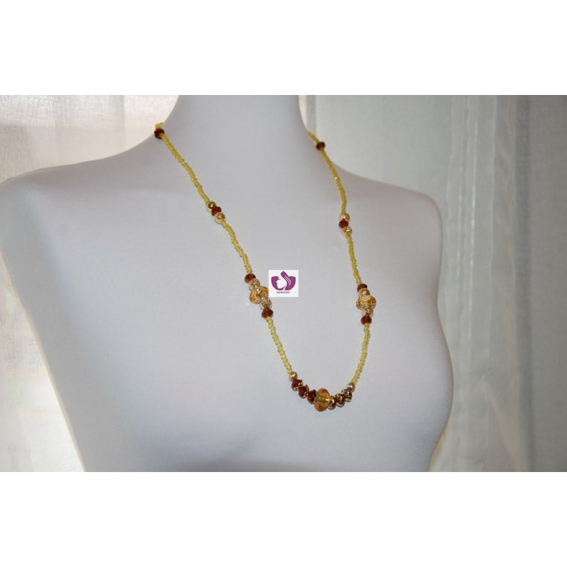 OSHUN NECKLACE IN AUSTRIAN CRYSTAL