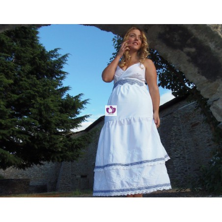 DRESS WHITE AND BLUE VICHY