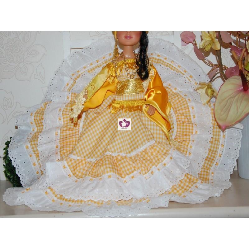Vestido Oshun Para Muñecas