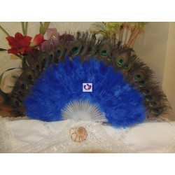 BLU FAN WITH FEATHERS
