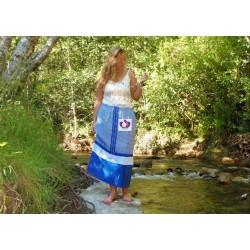 BLUE WOMAN'S SKIRT