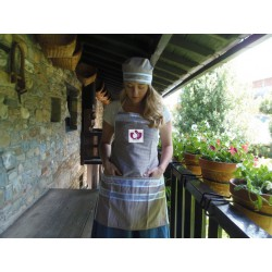 BROWN APRON SET OYA