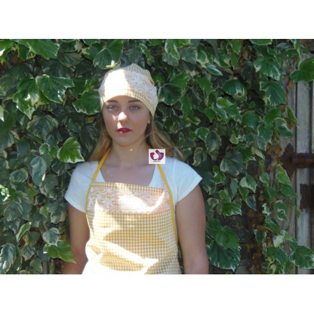 YELLOW SET APRON AND HEADSCARF OSHUN